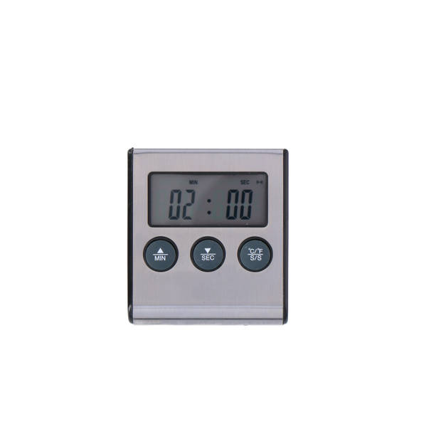 Alpina keuken thermometer - 2 in 1 - digitale thermometer & timer