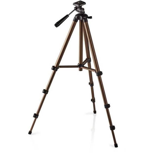 NEDIS TPOD2100BZ Statief - Pan- en kantelfunctie - Max. 2 kg - 130 cm - Zwart / zilver
