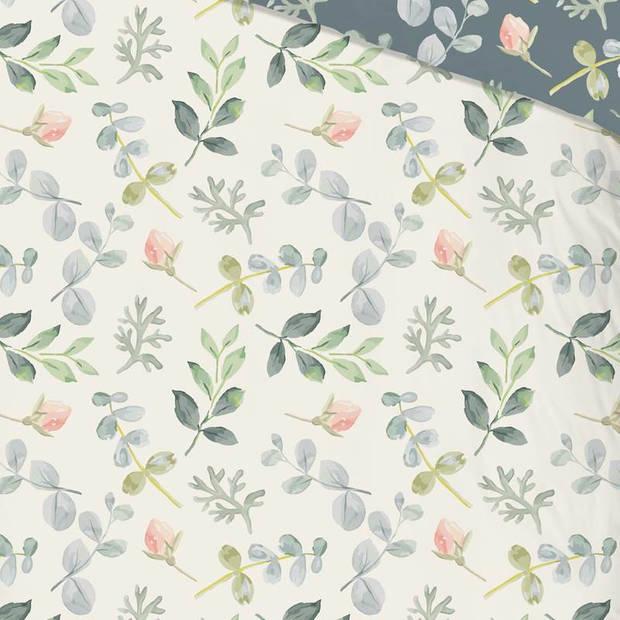 Good Morning Emma dekbedovertrek - 2-persoons (200x200/220 cm + 2 slopen) - Katoen - Groen