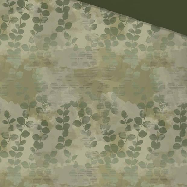 Good Morning Jacco dekbedovertrek - 1-persoons (140x200/220 cm + 1 sloop) - Katoen - Groen