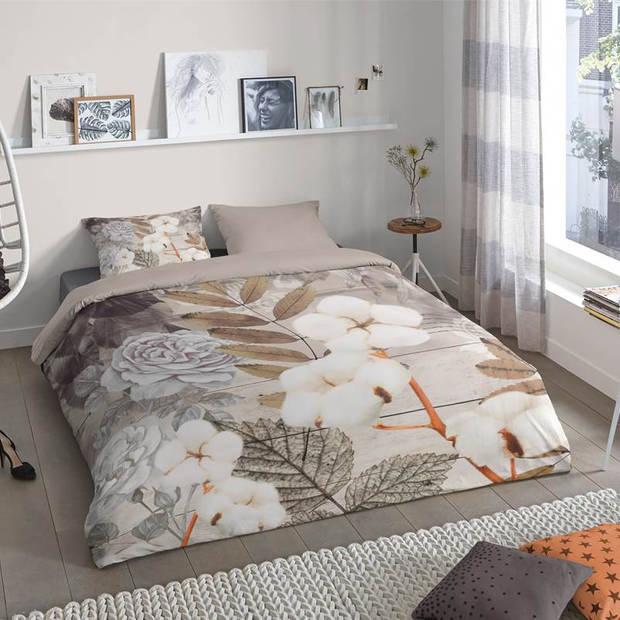 Good Morning Puck dekbedovertrek - 1-persoons (140x200/220 cm + 1 sloop) - Katoen - Zand
