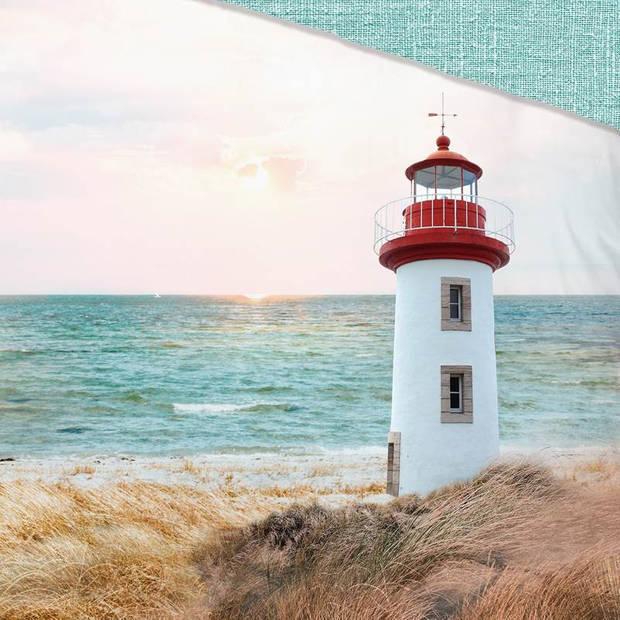 Good Morning Lighthouse dekbedovertrek - 1-persoons (140x200/220 cm + 1 sloop) - Katoen - Multi
