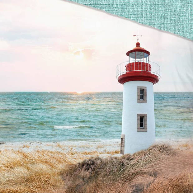Good Morning Lighthouse dekbedovertrek - 2-persoons (200x200/220 cm + 2 slopen) - Katoen - Multi