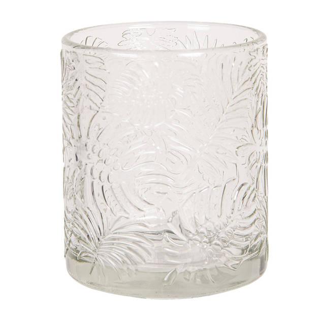 Clayre & Eef Waxinelichthouder Ø 8*10 cm Transparant Glas 6GL2558