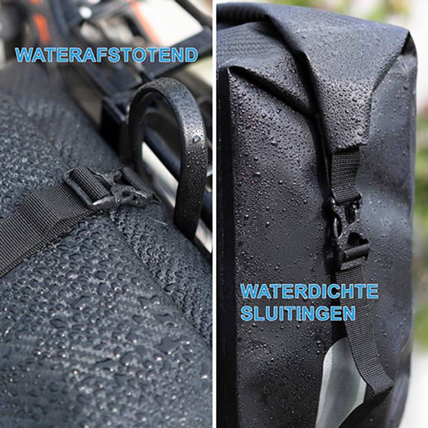 Dutch Moutains Enkele Fietstas Rugzak Oersterk 100% Waterdicht Fietstas, Schoudertas en Rugtas in 1 28 Ltr