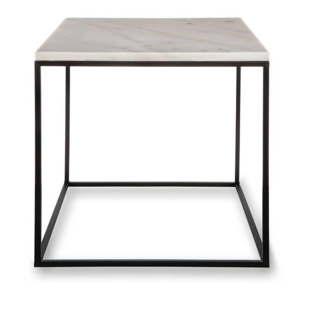 Blokker decoratietafel marmer - vierkant - 38x38 cm