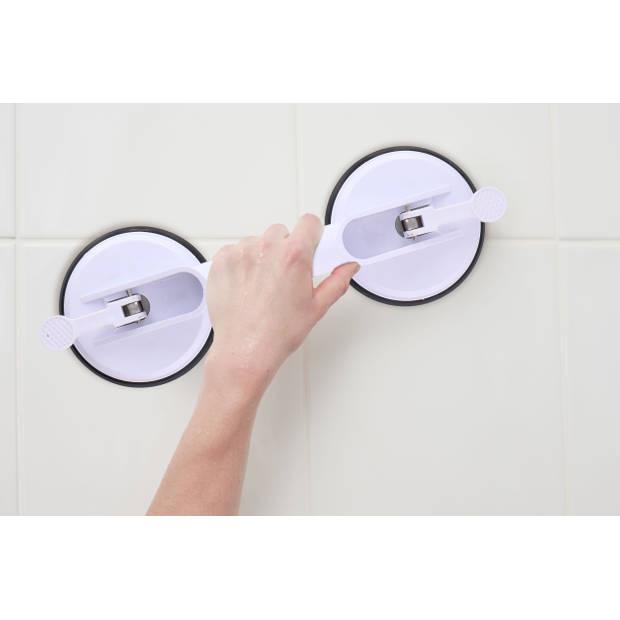 Vivamore Handgreep voor Evenwicht - Bad, Douche of Toilet - met Zuignappen - Wit