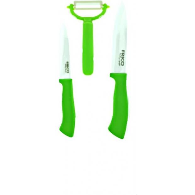 Frico Messenset - Keramische Non Stick Coating - 3 delig - Groen