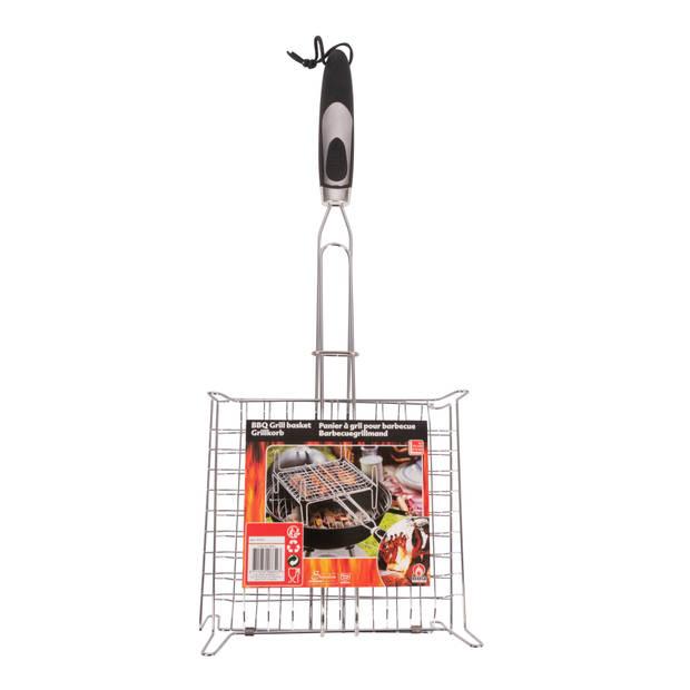 BBQ Collection grillrooster barbecue - 57 x 23 x 13 cm - RVS - keren in een handomdraai