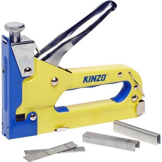 Kinzo tacker - 3-weg - 4-14mm - met nieten, krammen en spijkers