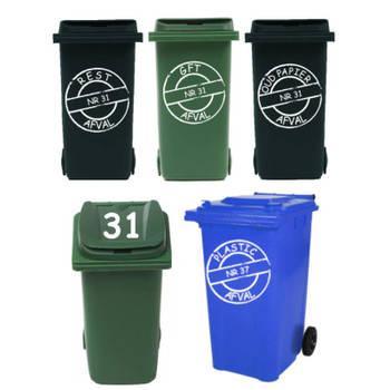 Korting Rosami Decoratiestickers Voordeelset 8 X Sticker Kliko Container Rosami 1 Stuks Kleur Zie Omschrijving
