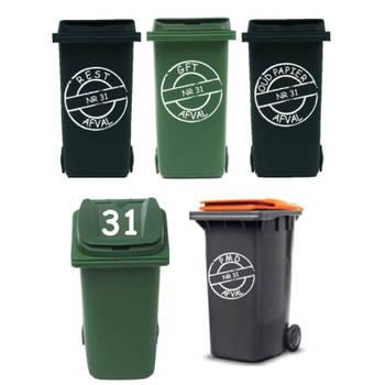 Korting Rosami Decoratiestickers Voordeelset 8 Sticker Afvalcontainer Kliko Rosami 1 Stuks Kleur Zie Omschrijving