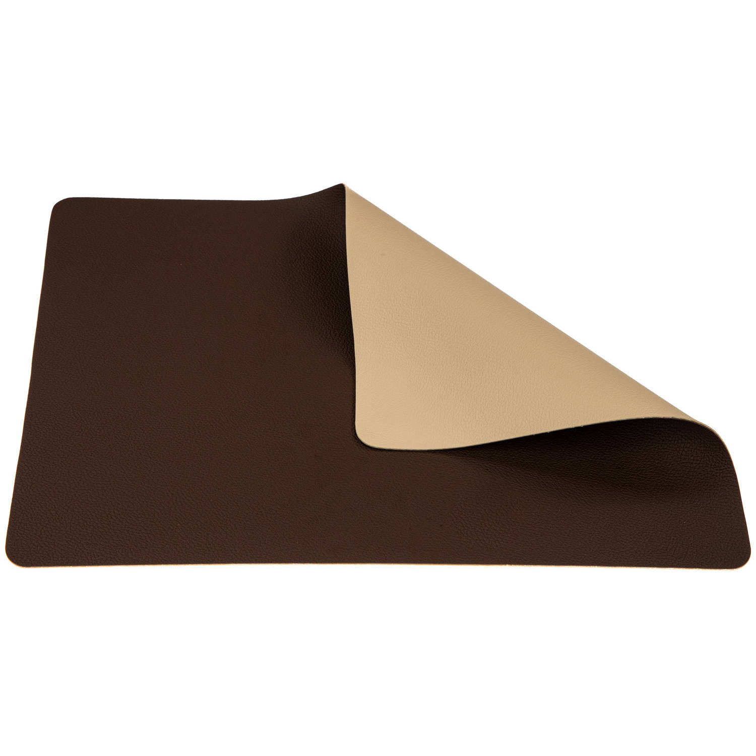 Korting Jay Hill Placemat Leer Bruin Zand 33 X 46 Cm
