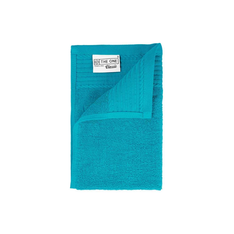 Korting The One Towelling Gastendoek 30 X 50 Cm Turquoise