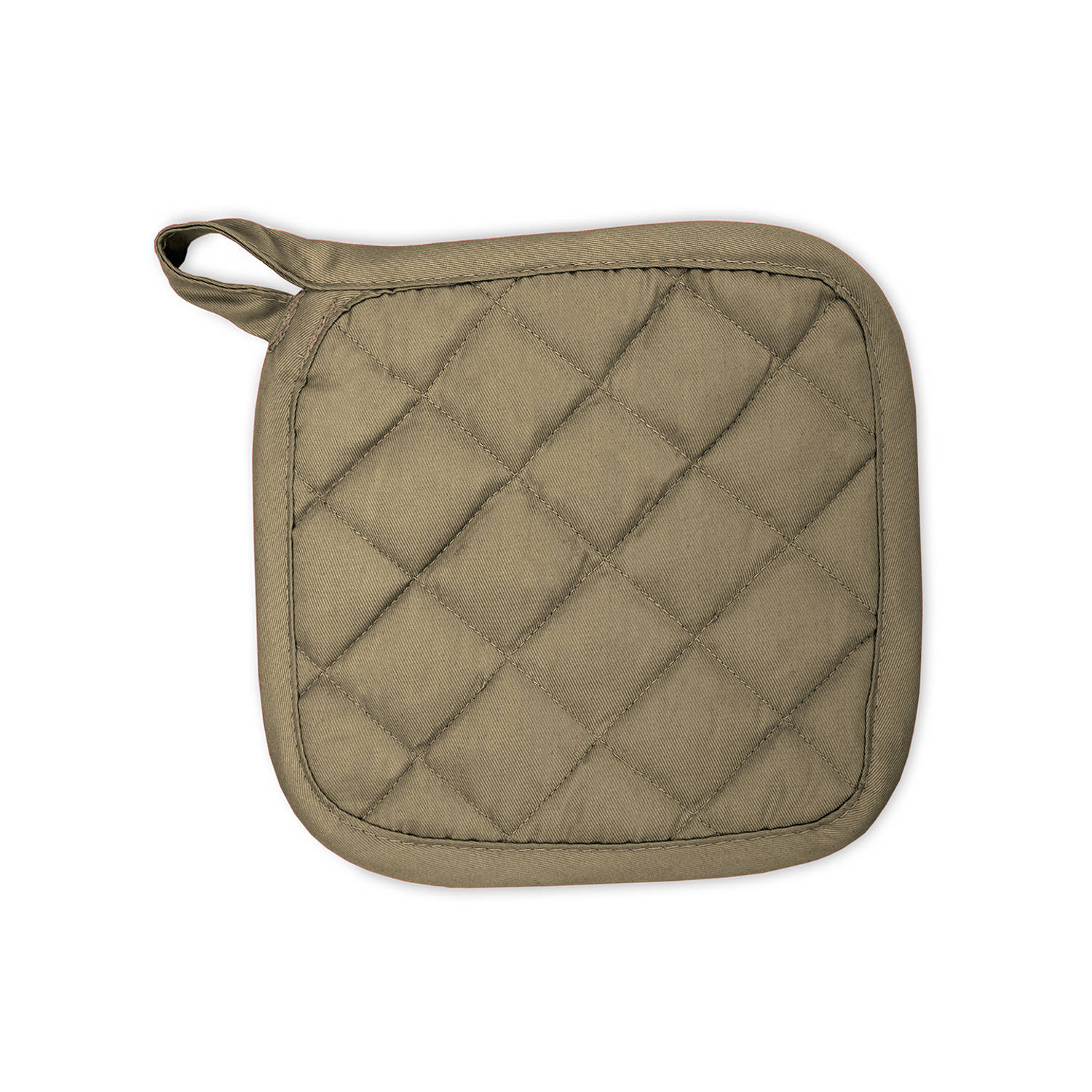 Korting The One Towelling Pannenlap 21 X 21 Cm Taupe