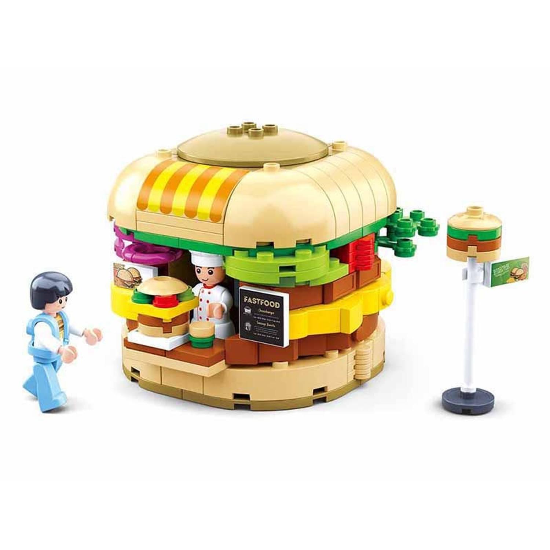 Sluban hamburgerkraam junior 23 cm 381-delig
