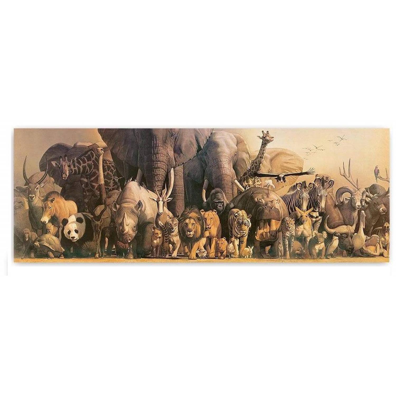 Safari Poster Deluxe Wilde Dieren Panorama 163 X 58,5 Cm Papier