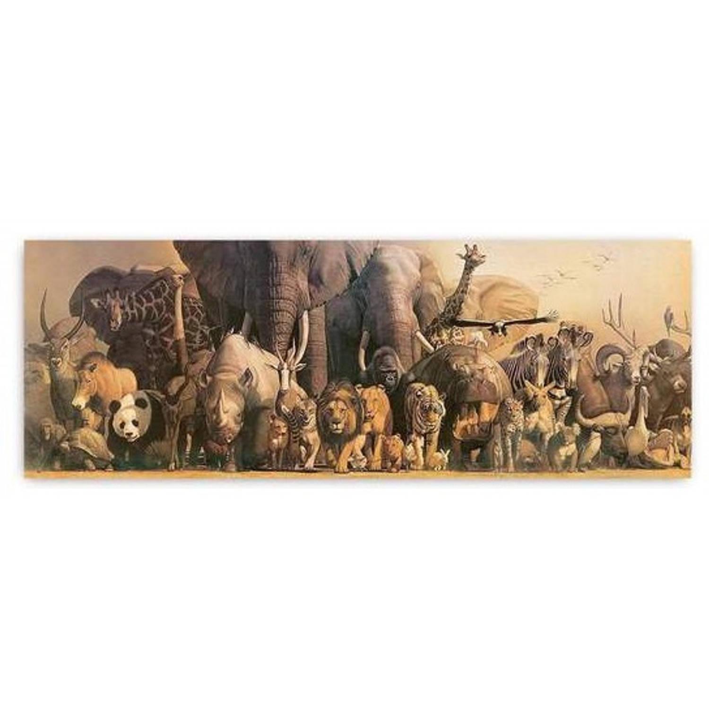 Safari Poster Wilde Dieren Panorama 91,5 X 32 Cm Papier