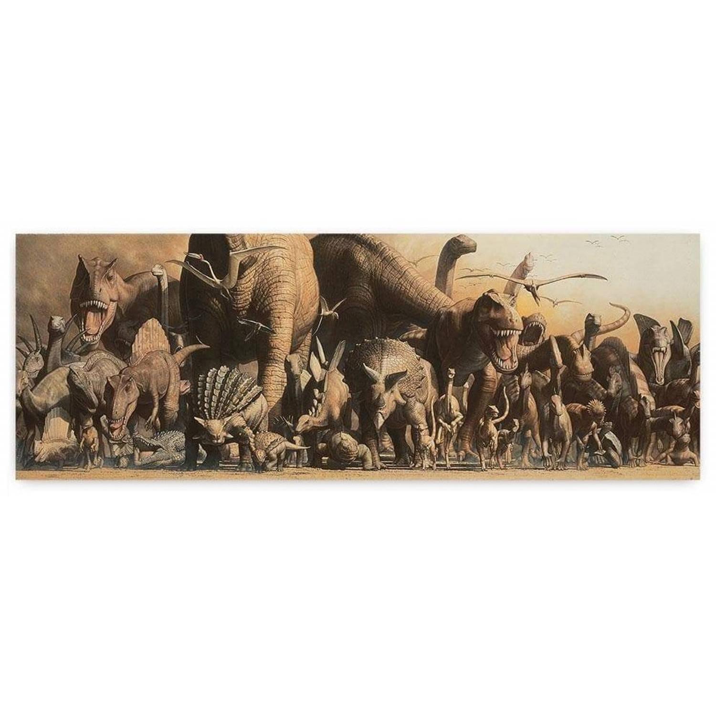 Safari Poster Deluxe Dinosaurus Panorama 162,5 X 58,4 Cm Bruin