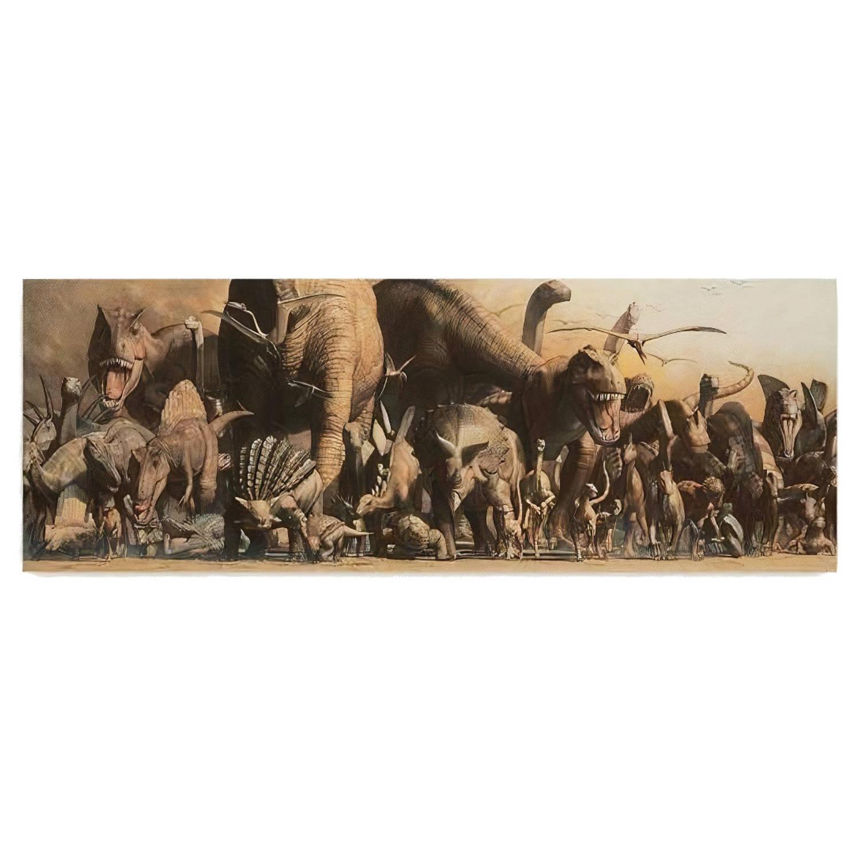 Safari Poster Dinosaurus Panorama 91,5 X 32 Cm Papier
