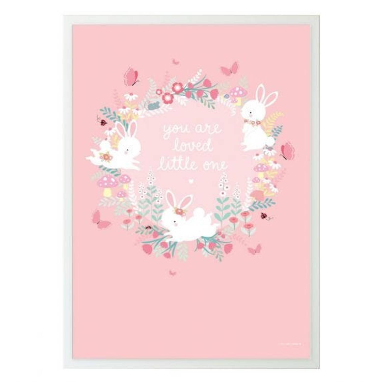 A Little Lovely Company Poster Meisjes 50 X 70 Cm Papier Roze