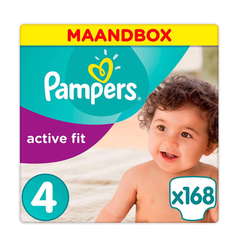 Pampers Active Fit Maandbox Maat 4 (Maxi) 7-18 kg 168 luiers