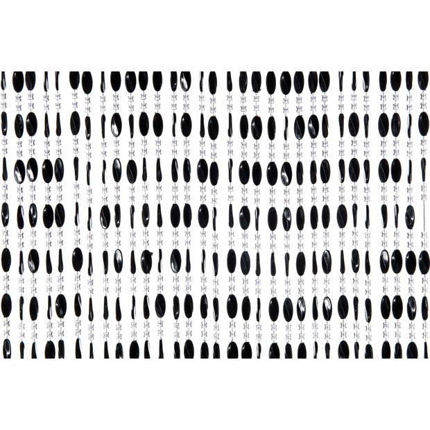 Vliegengordijn Charlotte - 240x100 cm - Transparant/Zwart Default