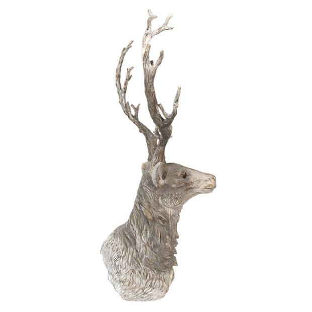 Clayre & Eef Hertenkop 43*31*73 cm Bruin Polyresin Hert 5PR0048