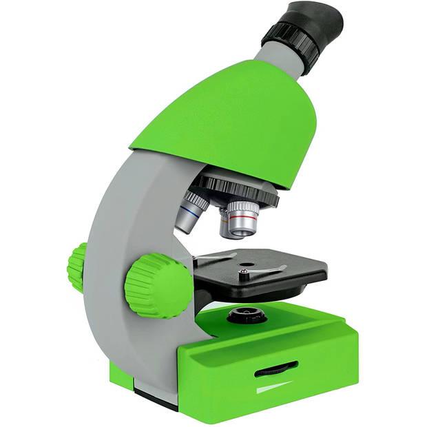 Bresser microscoop junior 22 cm staal groen 44-delig