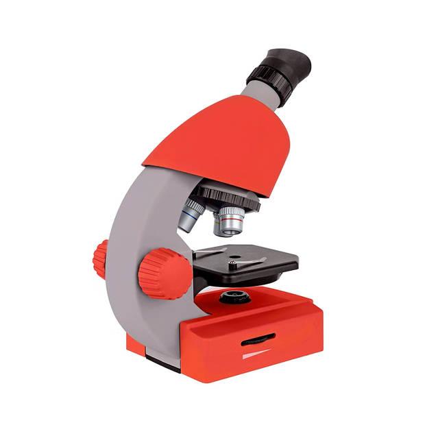 Bresser microscoop junior 22 cm staal rood 44-delig