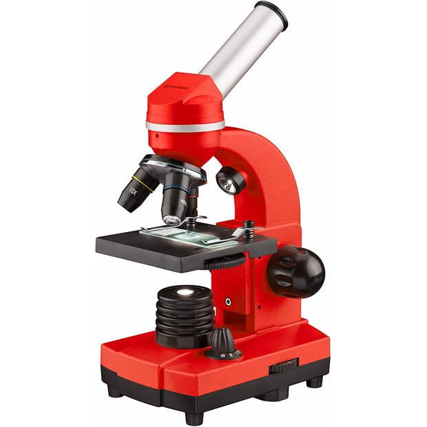 Bresser microscoop junior 29 cm staal rood 28-delig