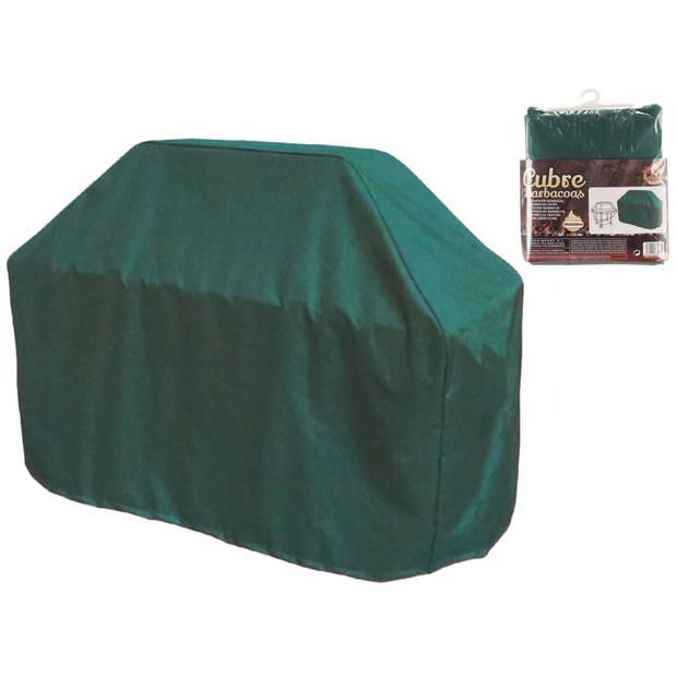 Gerimport - Beschermhoes voor de barbecue - Waterdichte hoes voor de barbecue – 150x55x80cm- Groen - BBQ