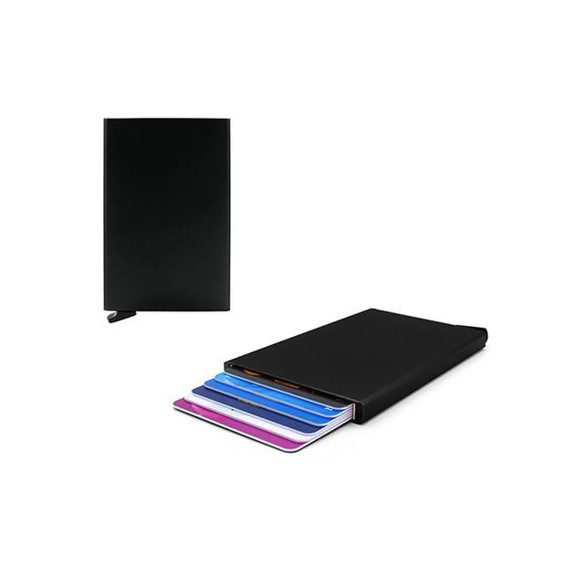 Figuretta RFID uitschuifbare creditcardhouder - Portemonnee - Anti skim pasjeshouder - Zwart