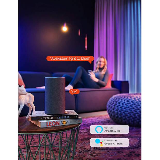 Silvergear Slimme WiFi LED Strip - 3 meter - RGB - Waterdicht - Via Alexa, Google Assistant en App