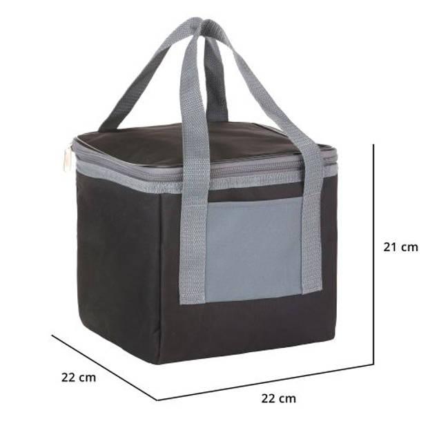 Basis Sterke Koeltas set Set van 25 + 10 Liter Coolerbag Zwart