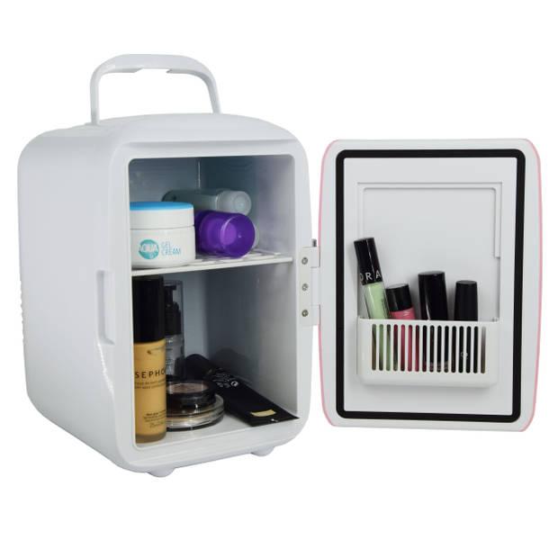 Peach Beauty Mini Makeup Koelkast Roze - 4L