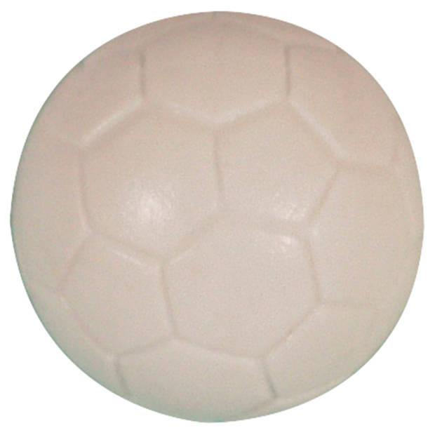 Buffalo tafelvoetbal bal 36 mm profiel wit 6 stuks