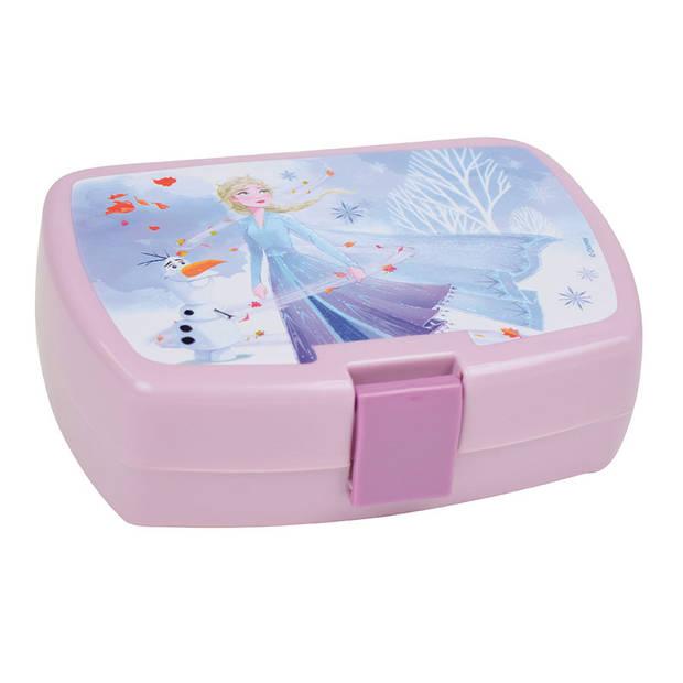 Disney Frozen broodtrommel meisjes 6,5 x 17 x 13 cm roze/multicolor