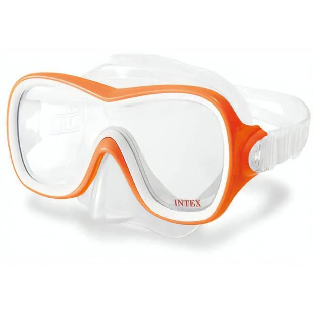 Intex duikbril Wave Rider unisex PVC/polycarbonaat oranje