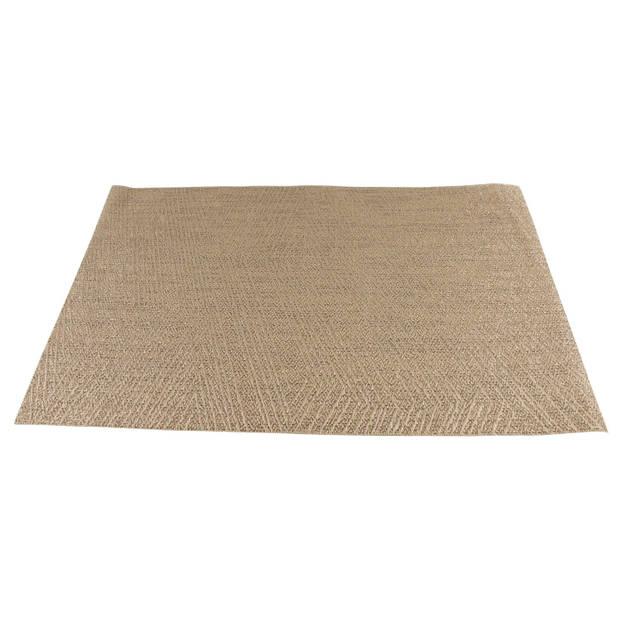 6x Placemats/onderleggers goud 30 x 45 cm - Tafel dekken - Gouden tafeldecoratie 6 stuks