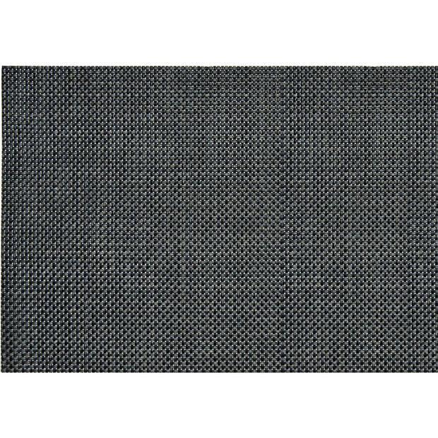8x stuks Placemats antraciet grijs geweven/gevlochten 45 x 30 cm - Placemats/onderleggers tafeldecoratie - Tafel dekken