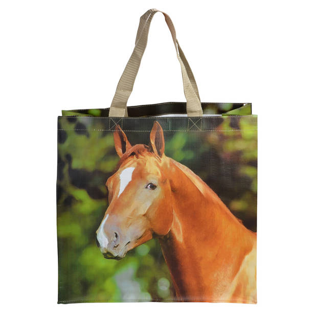 Esschert Design boodschappentas Paard 23 liter polyester
