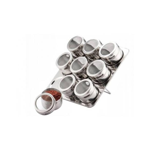 Edënbërg Classic Line - Kruidenrek met Magnetische Kruidenpotjes