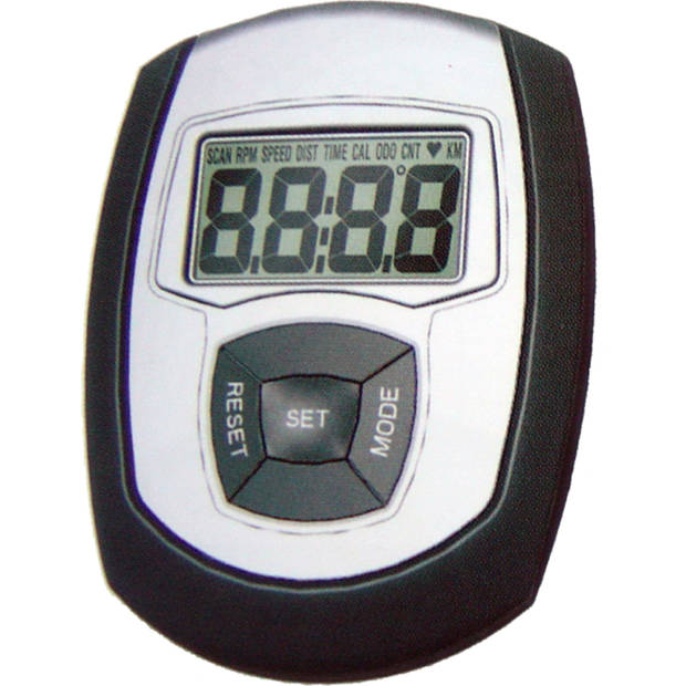 Impec Hometrainer NS-903US lage instap zwart grijs