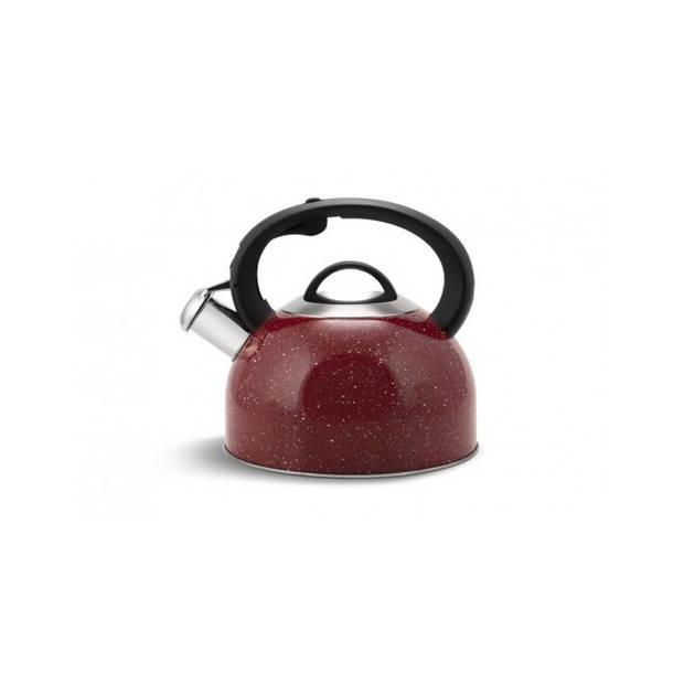 Edënbërg Classic Line - Luxe Fluitketel 2.5 liter - RVS - Rood