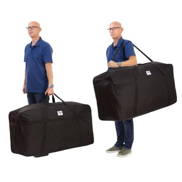 TravelZ Grote tas Lichte XXXL Allround Sporttas 235 liter 102 x 42 x 55cm opbergtas Zwart