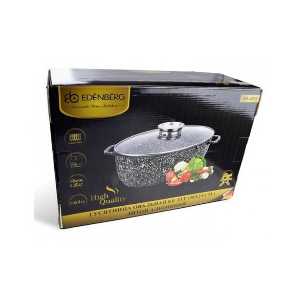 Edënbërg Stonetec Line - Luxe Braadpan set van Gesmeed Aluminium - 8 liter