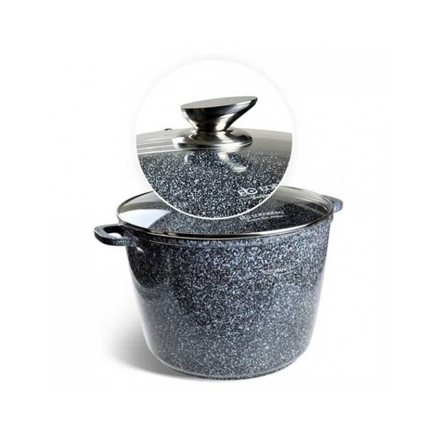 Edënbërg Stonetec Line - Luxe Aluminium Kookpan met Deksel - Ø 28 cm