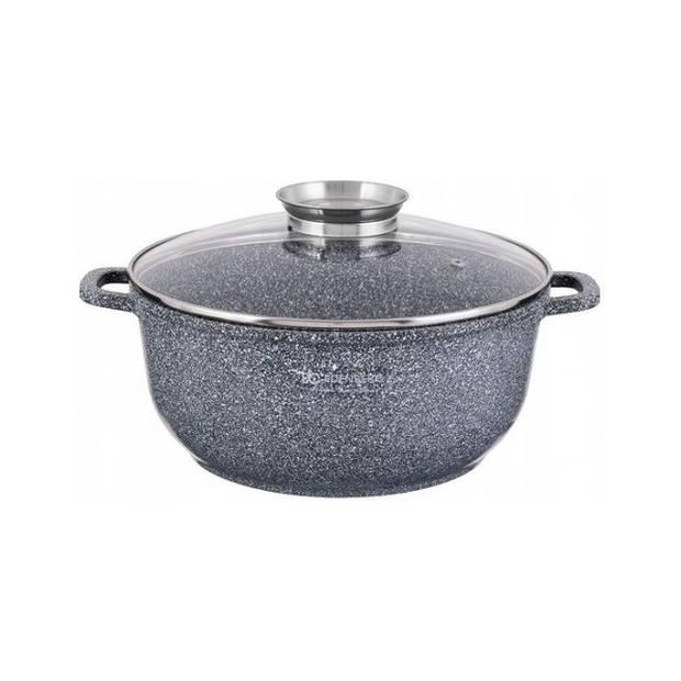 Edënbërg Stonetec Line - Luxe Aluminium Kookpan met Deksel - Ø 28cm - 6,8 liter