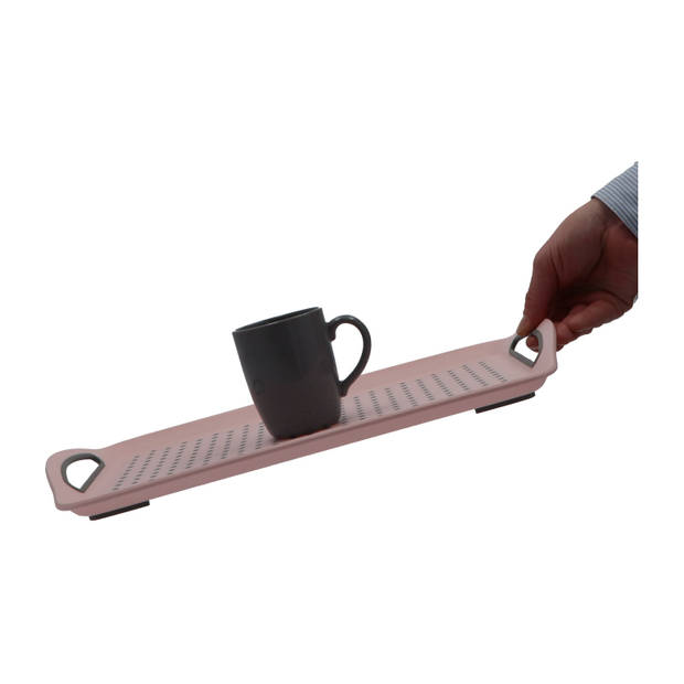 Anti-slip dienblad 45,5x32x4,5 cm - Roze